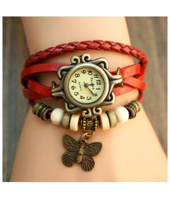 Rakhi Special Red Casual Analog Leather Women Wrist Watch (original) WOMEN,GIRLS AND LEADY