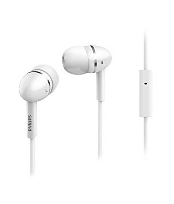 Philips SHE1455WT/94 Headphone with Mic (White)