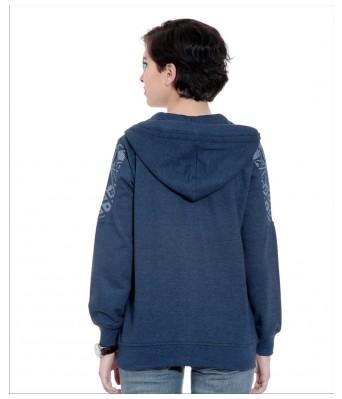 WoMEN Sweatshirt Blue Long Sleeves Sweatshirt