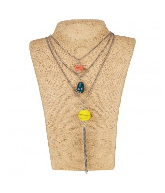 Aradhya High Finished Strings Multi Colour Beads Necklace for Women and Girls