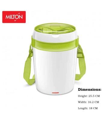 Milton Futron Tiffin Stainless Steel Tiffin Box Set, 360ml/180mm, Set of 4, Green