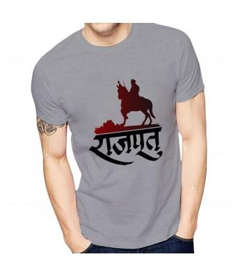 Ghantababajika Mens Printed Big Raajpoot T-Shirt Quote Printed T-Shirts