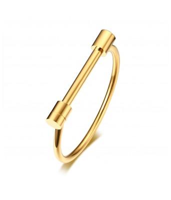 Gold Plated Stainless Steel Kada for Men & Women
