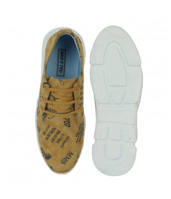 FIRSTCLUB Khaki Canvas Sneakers Shoes For Men