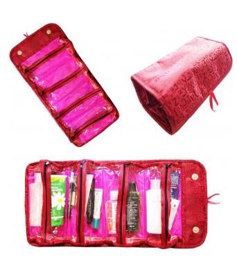 Roll N Go 4 In 1 Travel Buddy Cosmetic Shaving Toiletry Bag Jewellery Storage Organizer