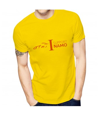 Ghantababajika Mens Printed Support Namo T-Shirt | Quote Printed T-Shirts