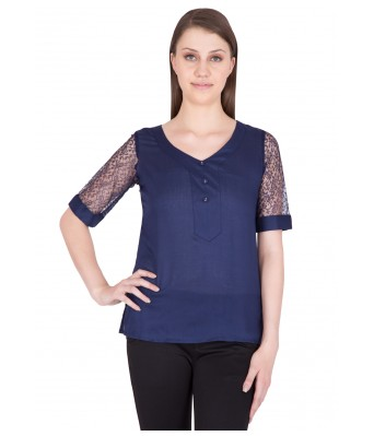 iroo Lifestyle Blue  Womens Top
