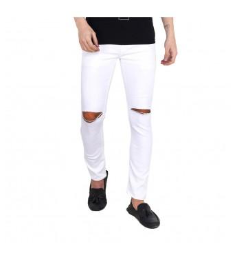 Ridge Vogue Regular Mens White Jeans