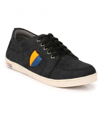 Boggy Confort Black Synthetic Sneakers casual Shoes for Mens & Boys