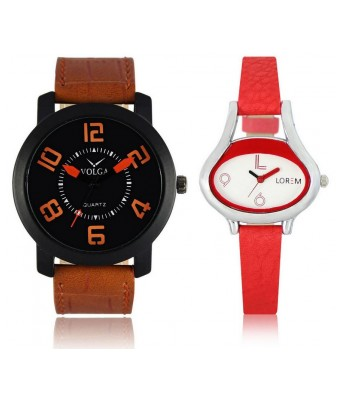 URANUS VL20LR0206  New Branded Brown-Red Color Analog Combo Watch