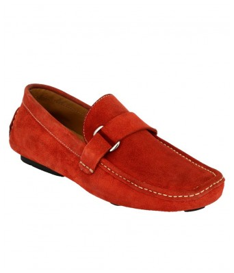 Boggy Confort Red Suede Leather Loafers for Mens & Boys