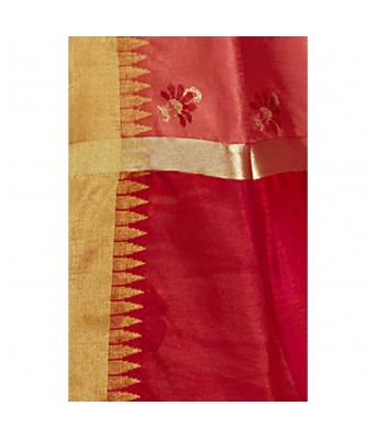 Shakunt Weaves Peach Color Art Silk Party Wear Embroidered Saree