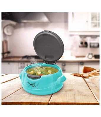 Milton Microwow One Touch 1500 Insulated Inner Steel Casserole  1340 ml  Blue