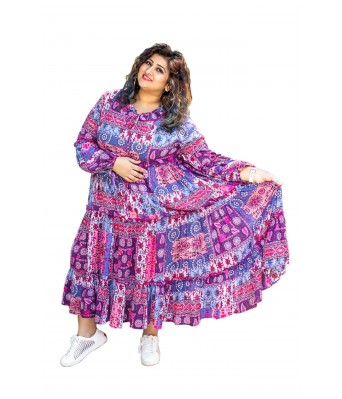 The Plum Tree Femme Flair Magenta Dress