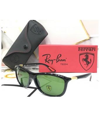 stylish new ferarri green men sunglasses