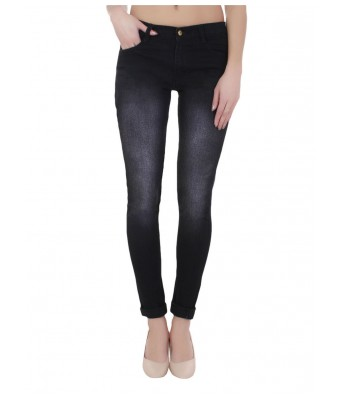 Ansh Fashion Wear Womens Denim Jeans - Regular Fit - Monkey Black