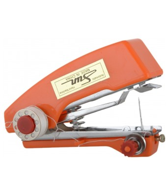 Colonial Mini Stapler Style Hand Sewing Machine for Quick and Easy Sewing orange