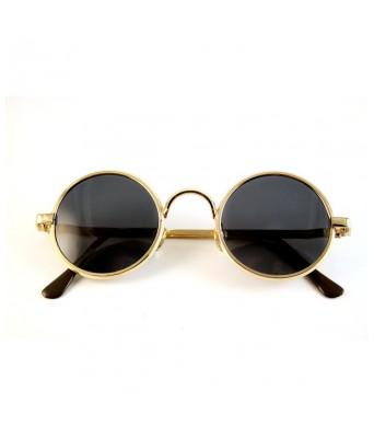 Sunglasses Black Round Goggles For Unisex