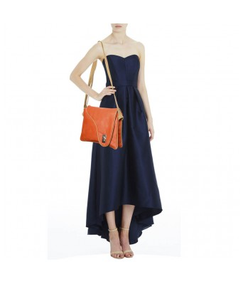 BUEVA Non Leather Stylish Sling Bag Orange Color