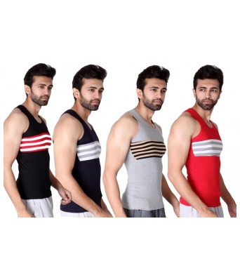 ZippyPack of 4  Multi Sleeveless Android Vest