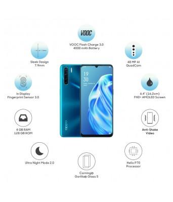 OPPO F15 (Blazing Blue, 4GB RAM, 128GB Storage)