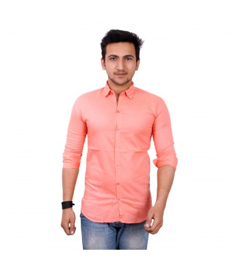 Mens world Peach  casual  shirt