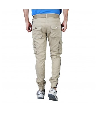 Xee Mens Cargo Cream Color Stylish 6 Pockets Jeans for Mens & Boys