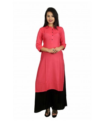This V Brown Women's Stylish Straight 3/4 Sleeve kurti has beautifully design by latest creation of V Brown.This Kurti Fabric Light in weight and keep you at ease all day.