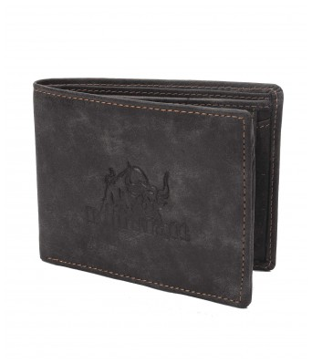 BullKraft Mens Black Color Casual Maroon Color Formal Genuine Leather Wallet