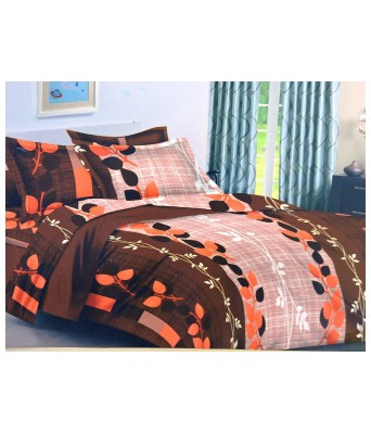 Paras Traders Presents Fine Quality/ 100% Fine Cotton Fabric/ 144 TC/Brown Please Shade/with 2 Pillow Cover/