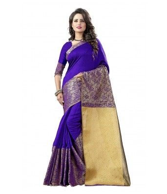 Ethnikaaz Fancy Jacqurd Cotton Saree_EM-JQ-03-PINK