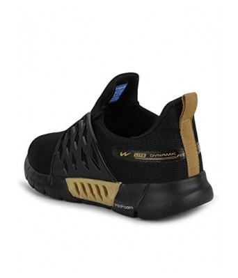Campus Men's Belgium Black Gold Running Shoes