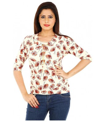 Romile XL Size Beautiful Golden Color top for Women & Girls