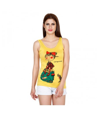 Yellow Tree Women Casual Yellow printed Top