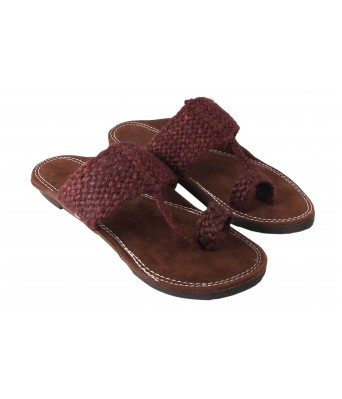 AMAZING TRADERS Jute Leather Slipper for Mens,Boys (Brown Color)