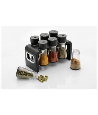 JSPM Spice Rack Black (6 Pieces)