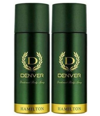 Denver Hamilton Deo Combo Deodorant Spray - For Men(330 ml  Pack of 2)