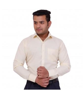 Neon-9 Men's Solid Casual Yellow Shirt
