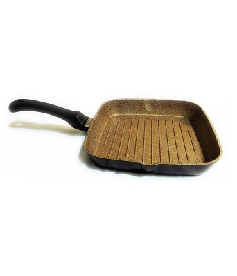 Sajni Granito Grill Pan 26x26 cms (GOLDUST) with Designer Back
