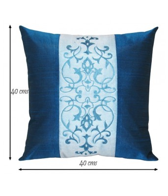 Sightly Embroidered Maroon N Beige Cushion covers Set Of 5 (40X40 cms)