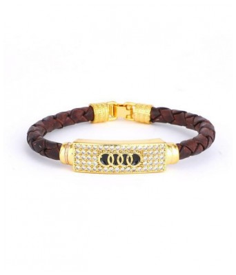 Brown Stainless Steel  Bracelets For Men and Women