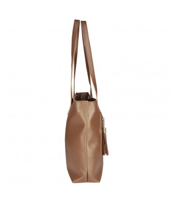 Caterfly Womens Caterfly Womens Leather Tan Color Hand Held Tote & Sling Bag Shoulder Bag Handbag