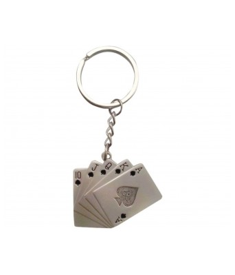 Playing Cards Metal Key Chain