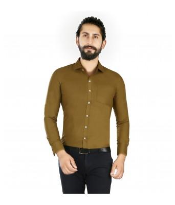 Lisova Khaki Slim Fit shirt