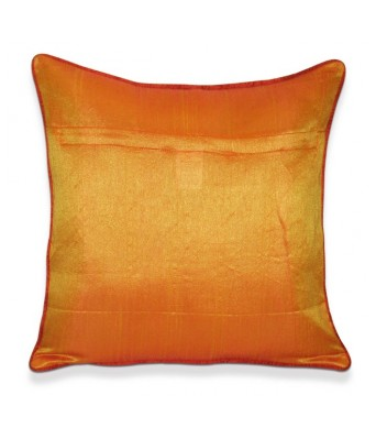 Orange Plain Dori Cushion Covers 40x40 Cms Set Of 5