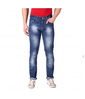 Rock Hudson Mens Regular Fit Denim Strechable Round Pocket Clean Look Light Faded Dark Blue Jeans