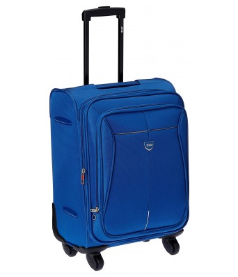 VIP Aqualite II Strolly Exp 4 wheel Fabric Aqua Blue Softsided Carry-On (STAQU55ABL) Small Luggage