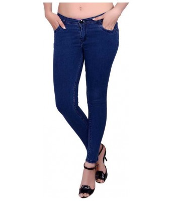 Veravibe Premium Navy Blue Denim Skinny Fit Jeans
