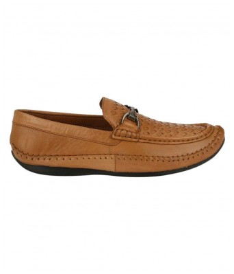 Boggy Confort Tan Genuine Leather Loafers for Mens & Boys