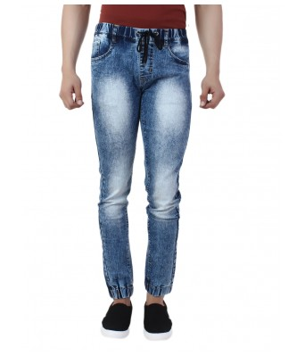 Ansh Fashion Wear Mens Denim Jogger - Regular Fit - Blue - Blast Monkey